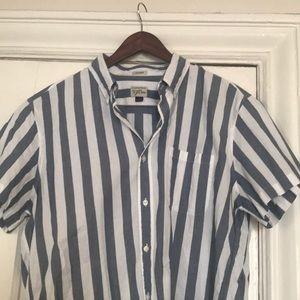 J. Crew Men's Short Sleeve Button Down Shirt